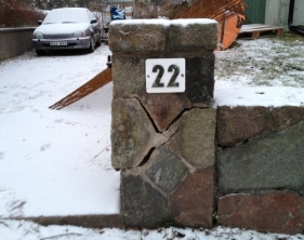 1 Spräckt stenpelare
